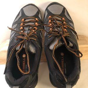 Merrell Vibram Hiking Athletic Black Shoe men's 11
